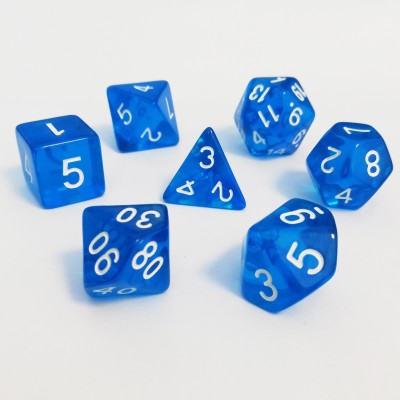 Dés  Set De 7 Dés - Role Playing Dice Set (Transparent)