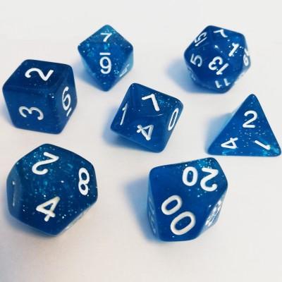 Dés Set De 7 Dés - Role Playing Dice Set - Pailletté (couleur selon stock)