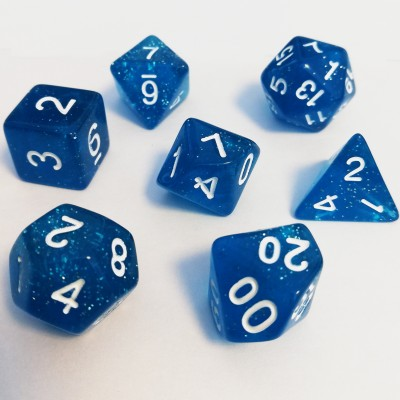 Dés  Set De 7 Dés - Role Playing Dice Set - Pailletté (couleur selon stock)