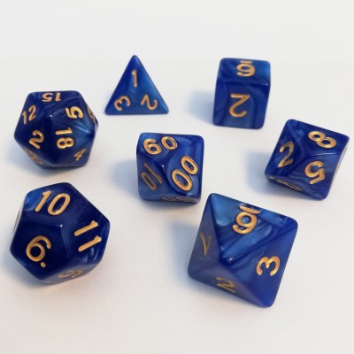 Dés  Set De 7 Dés - Role Playing Dice Set - Nacré (couleur selon stock)