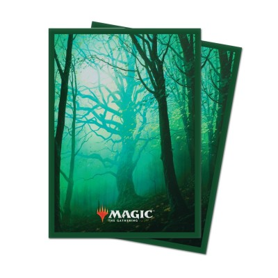 Protèges Cartes illustrées Magic the Gathering Unstable - 100 Pochettes - Forêt