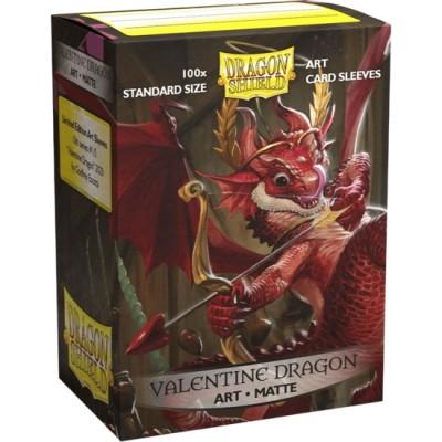 Protèges Cartes illustrées  100 pochettes - Valentine 2020 Dragon