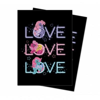 Protèges Cartes illustrées  100 Pochettes - My Little Pony - Retro Neon