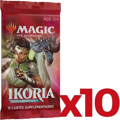 Booster Magic the Gathering Ikoria La Terre des Béhémoths - Lot de 10