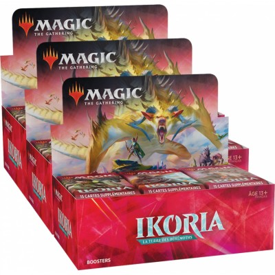 Boites de Boosters Magic the Gathering Ikoria La Terre des Béhémoths - Lot de 3