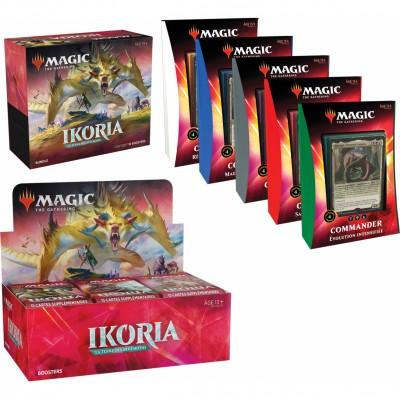 Offres Spéciales Magic the Gathering Ikoria La Terre des Béhémoths - Mega Pack : Boite VF + 5 Decks Commander 2020 VF + Bundle VF