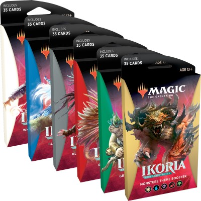 Boosters Magic the Gathering Ikoria Lair of Behemoths - Theme Boosters - Lot de 5