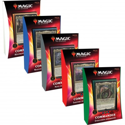 Decks Magic the Gathering Commander 2020 - Lot de 5 différents