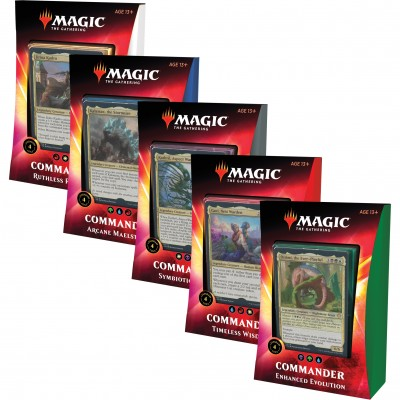 Deck Magic the Gathering Commander 2020 - Lot de 5 différents