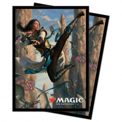 Protèges Cartes illustrées Magic the Gathering Ikoria La Terre des Béhémoths - 100 Pochettes - V3 - Narset
