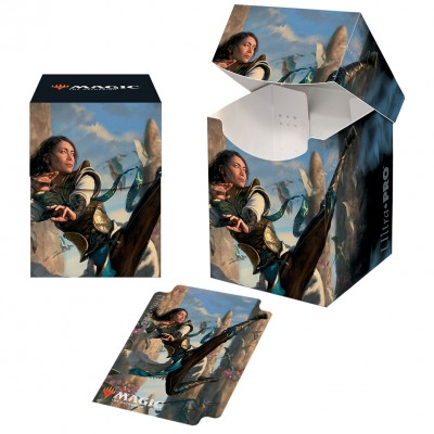 Boite de rangement illustrée Magic the Gathering Ikoria La Terre des Béhémoths - Deck Box 100+ - V3 - Narset