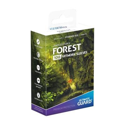 Protèges Cartes illustrées  Lands Edition II Forêt
