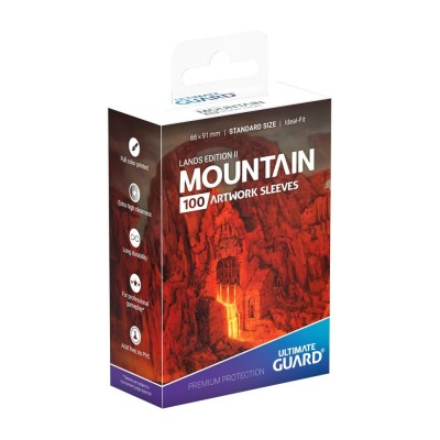 Protèges Cartes illustrées  Lands Edition II Montagne