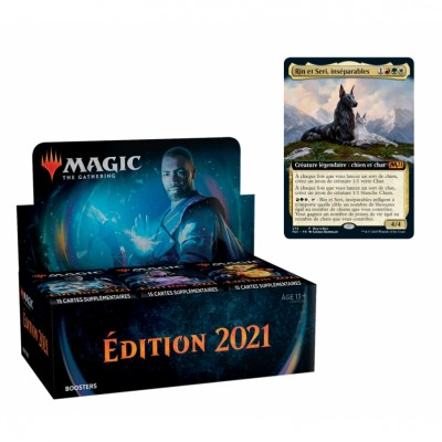 Boites de Boosters Magic the Gathering Edition de Base 2021 + Carte Promo Buy-a-Box (Retrait magasin)