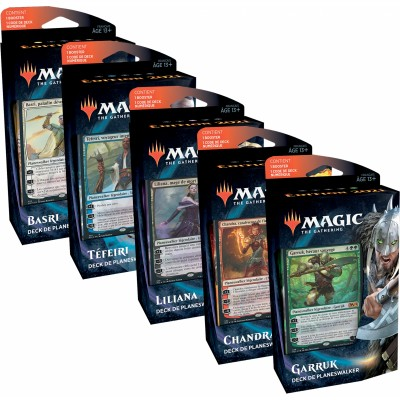 Decks Magic the Gathering Edition de Base 2021 - Planeswalker Decks - Lot des 5