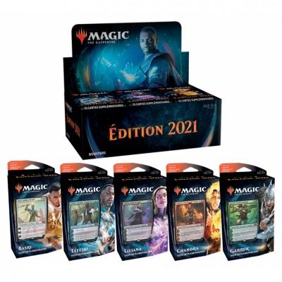 Offres Spéciales Magic the Gathering Edition de base 2021 - Super Pack : Boite VF + 5 Decks VF