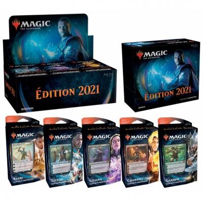 Offres Spéciales Magic the Gathering Edition de base 2021 - Mega Pack : Boite VF + 5 Decks VF + Bundle VF