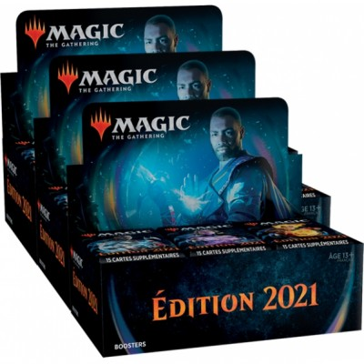 Boites de Boosters Magic the Gathering Edition de Base 2021 - Lot de 3