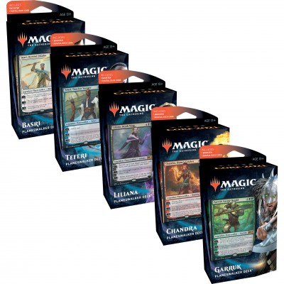 Decks Magic the Gathering Core Set 2021 - Planeswalker Decks - Lot des 5