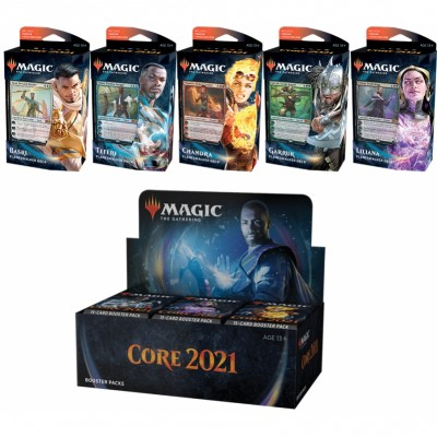 Offres Spéciales Magic the Gathering Core Set 2021 - Super Pack : Boite VO + 5 Decks VO