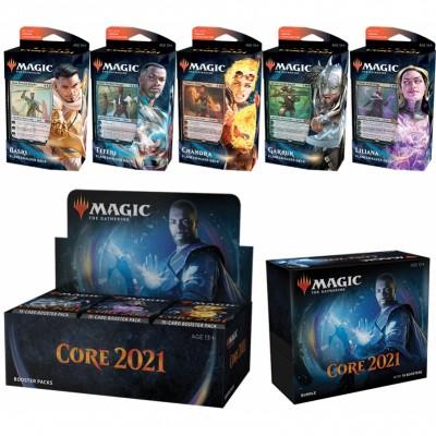 Offres Spéciales Core Set 2021 - Mega Pack : Boite VO + 5 Decks VO + Bundle VO