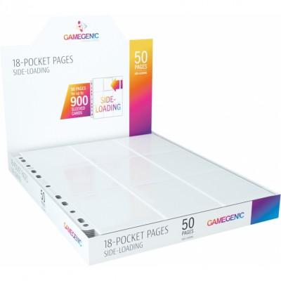 Classeur et Feuilles  Lot De 50 Feuilles De Classeur - Side-Loading - Blanc - 18 Cases
