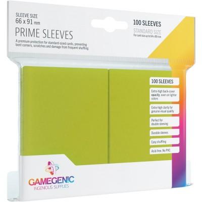 Protèges Cartes  100 Pochettes - Prime - Vert Lime