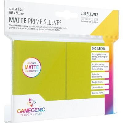 Protèges Cartes 100 Pochettes - Prime Matte - Vert Lime