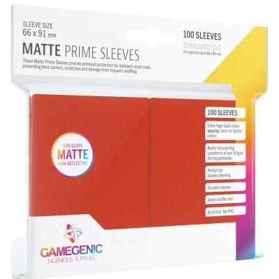 Protèges Cartes 100 Pochettes - Prime Matte - Rouge