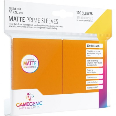 Protèges Cartes  100 Pochettes - Prime Matte - Orange