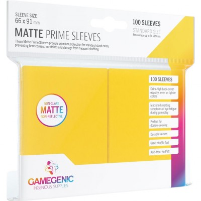Protèges Cartes 100 Pochettes - Prime Matte - Jaune