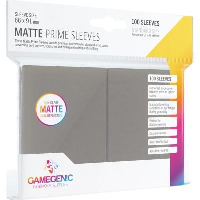 Protèges Cartes  100 Pochettes - Prime Matte - Gris Foncé