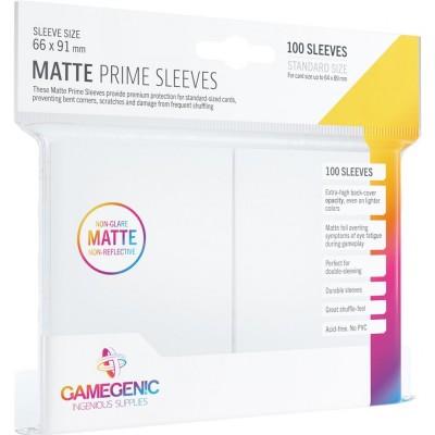 Protèges Cartes  100 Pochettes - Prime Matte - Blanc