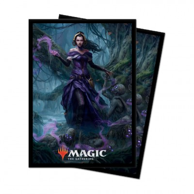 Protèges Cartes illustrées Magic the Gathering Edition de base 2021 - 100 pochettes - V3 - Liliana