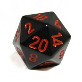 Dés  Dé 20 Faces en métal - 20mm - Métal Noir