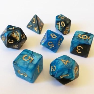 Dés Set De 7 Dés - Role Playing Dice Set - Marbré (couleur selon stock)