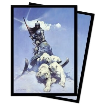 Protèges Cartes illustrées  100 pochettes - Deck Protector - Frank Frazetta - Silver Warrior