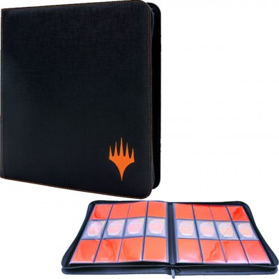 Portfolio Maxi  - Collection Premium - ZIPPERED SUEDE - 20 pages de 12 cases (480 cartes recto-verso) - Mythic Edition