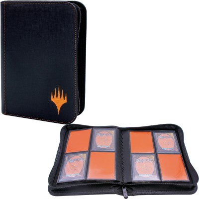 Portfolio A5 - Collection Premium - ZIPPERED SUEDE - 20 pages de 8 cases (160 cartes recto-verso) - Mythic Edition