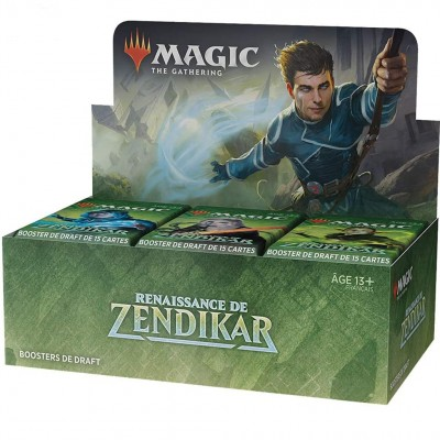 Boite de Boosters Magic the Gathering Renaissance de Zendikar - 36 Boosters de Draft