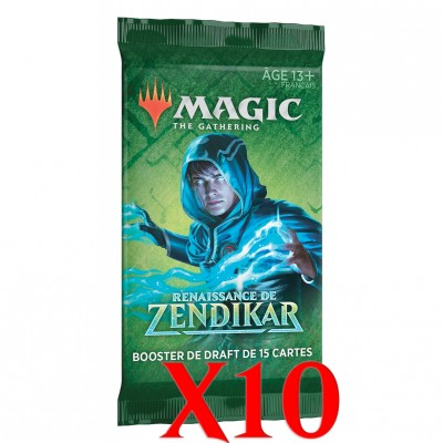 Boosters Magic the Gathering Renaissance de Zendikar - Lot de 10
