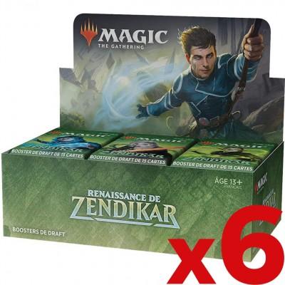 Boite de Boosters Magic the Gathering 36 Boosters - Renaissance de Zendikar - Lot de 6 boites