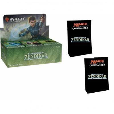 Offres Spéciales Magic the Gathering Renaissance de Zendikar - Super Pack : Boite VF + 2 Decks Commander VF