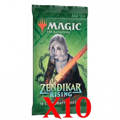 Boosters Magic the Gathering Zendikar Rising - Lot de 10