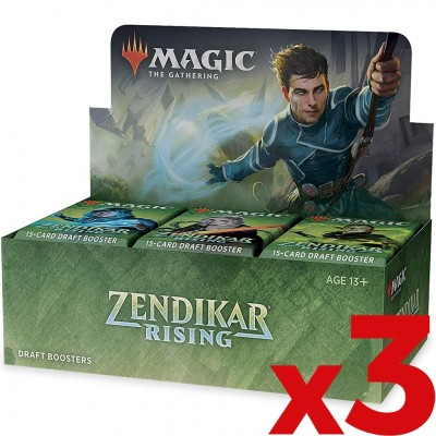 Boites de Boosters Magic the Gathering Zendikar Rising - Lot de 3