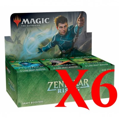 Boites de Boosters Magic the Gathering Zendikar Rising - Lot de 6