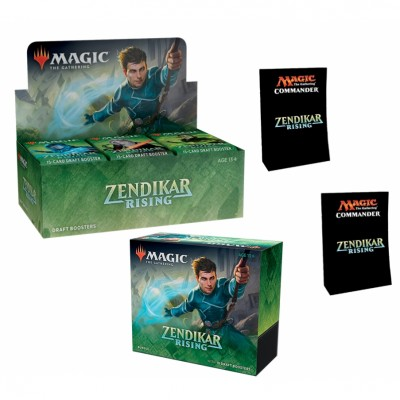 Offres Spéciales Magic the Gathering Zendikar Rising - Mega Pack : Boite VO + 2 Decks Commander VO + Bundle VO