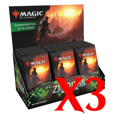 Boites de Boosters Magic the Gathering Zendikar Rising - Extension Booster - Lot de 3