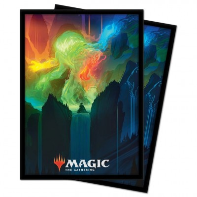 Protèges Cartes illustrées Magic the Gathering Renaissance de Zendikar - 100 pochettes - V4 - Omnath