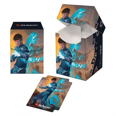 Boite de rangement illustrée Magic the Gathering Renaissance de Zendikar - Deck Box 100+ - V1 - Jace